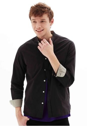 Life8 black Cotton Long-Sleeved Shirts-10076-Black 6BF07AA95B82F3GS_1