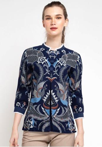 Rianty Batik blue Blouse Orlana AFAF8AA12A5743GS_1