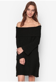【ZALORA】 Off Shoulder Dress