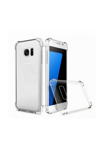 MobileHub white German Import Drop Resistant Silicone Clear Case for Samsung Galaxy S7 EE1C8AC818A9E9GS_1