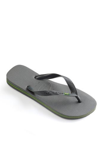 Havaianas grey Brasil Flip Flops FB9FFSHC7AC22AGS_1