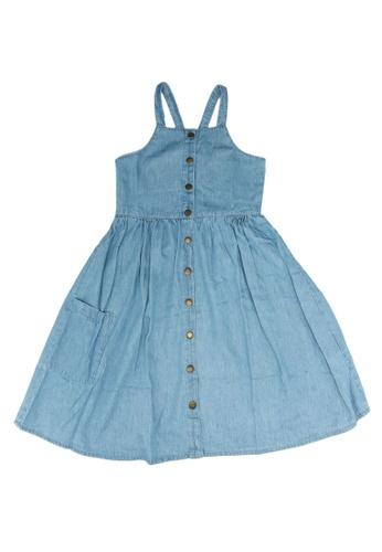 FOX Kids & Baby blue Kids Girl Chambray Dress DBCE7KA9176D5AGS_1
