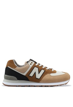 cf2e63705a06 New Balance brown and beige 574 Lifestyle Shoes 4FB53SHAE44706GS 1