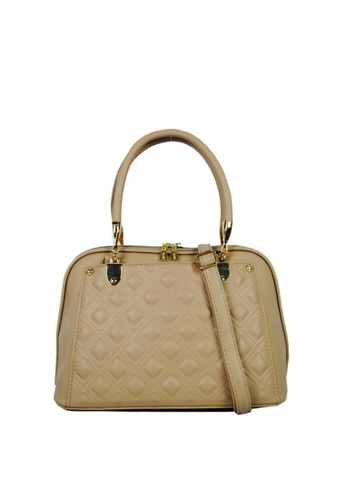 Kimbel International beige BCA886913 Handbag with Sling A998FACAABA95CGS_1