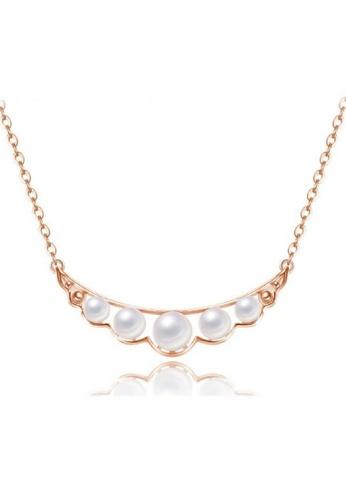 Vivere Rosse Vivere Rosse Pearl Quintette Necklace - Rose Gold VI014AC79VLSMY_1