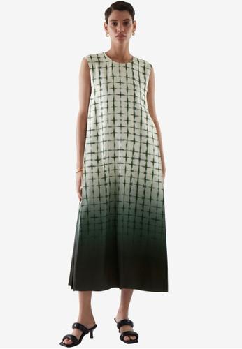 COS green Sleeveless Midi Dress DEF6CAAA2BA62EGS_1