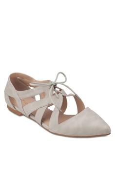 Cut Out Pointed Ballerinas