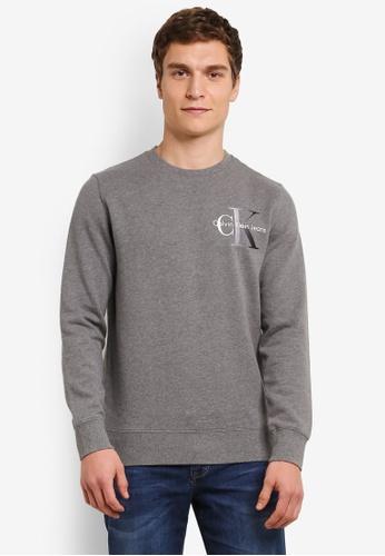 Calvin Klein 灰色 Hicon 2 Crew Neck Sweatshirt - Calvin Klein Jeans CA221AA0S9CNMY_1