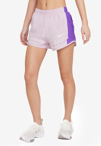 Nike purple Women's Tempo Icon Clash Running Shorts 7D376AADC2F3A7GS_1