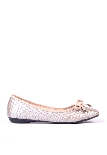 Sunnydaysweety grey Weave Pattern Small Bowflat Shoes  C12212GY SU443SH2VG3PHK_1