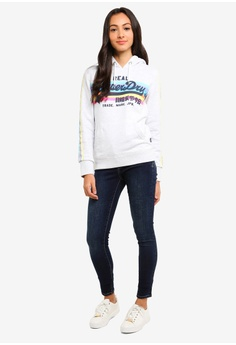 62313bf78ae 19% OFF Superdry V Logo Retro Rainbow Entry Hoodie S  119.00 NOW S  96.90  Sizes 10 12 14