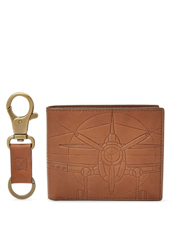 Fossil brown Fossil Axel Brown Wallet ML3969222 47F70AC0EAA723GS_1