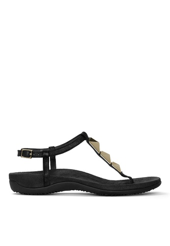Vionic black Nala T-Strap Sandal 585C2SH479F465GS_1