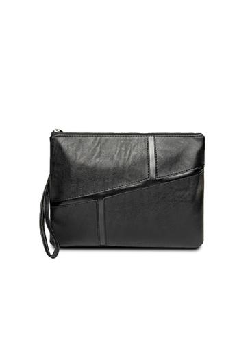 Lara black Zipper Hand Bag - Black E415DACFFFD594GS_1