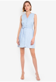 02171c8f06248 Forever New Aja Sleeveless Denim Shirt Dress RM 219.00. Available in  several sizes
