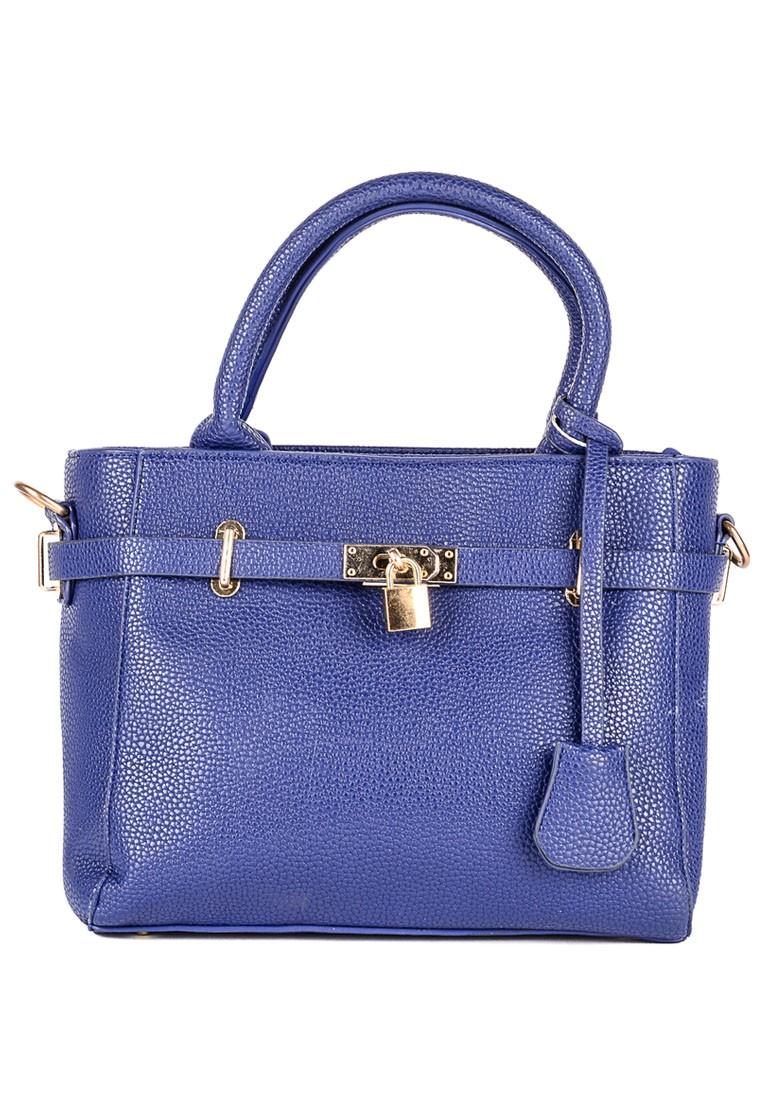 Mellie Lock Top Handle Bag