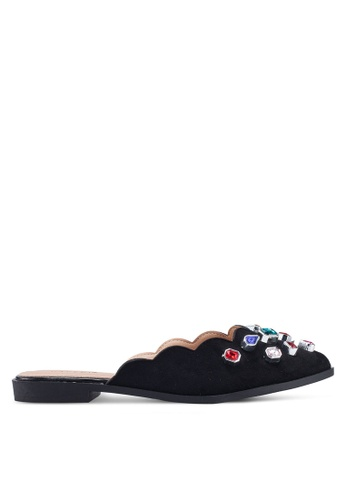 NOVENI 黑色 Bejewelled Slippers 036CESH3A97059GS_1