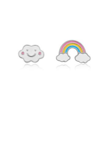 Glamorousky silver 925 Sterling Silver Sweet Rainbow Cloud Stud Earrings AA324AC211F073GS_1