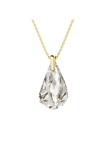 Her Jewellery gold Comet Droplets Pendant (Crystal White; Yellow Gold) - Made with premium grade crystals from Austria F3034AC7CF81D1GS_1