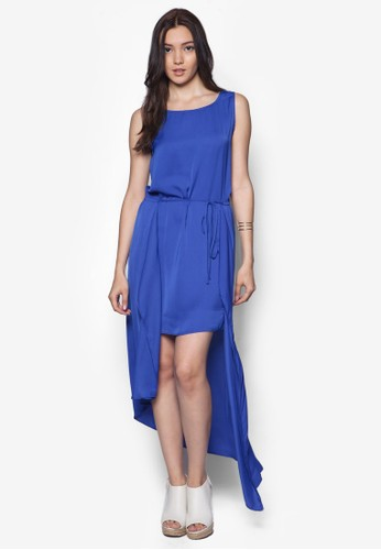 不對稱層疊esprit專櫃無袖連身裙, 服飾, 洋裝