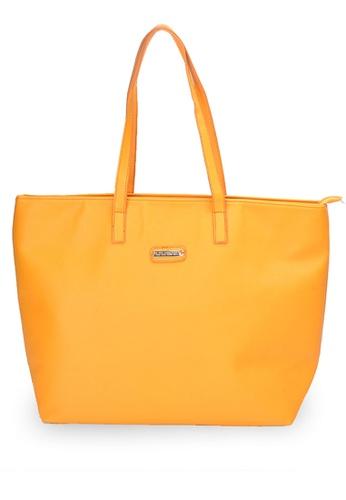LULUGIFT yellow Lulumono Variable Leather Shopping Bag Yellow 3877FACA902BC9GS_1