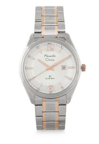 Alexandre Christie gold and silver Alexandre Christie Jam Tangan Pria - Silver Rosegold White - Stainless Steel - 8583 MDBTRSL 57E16AC5888A5AGS_1