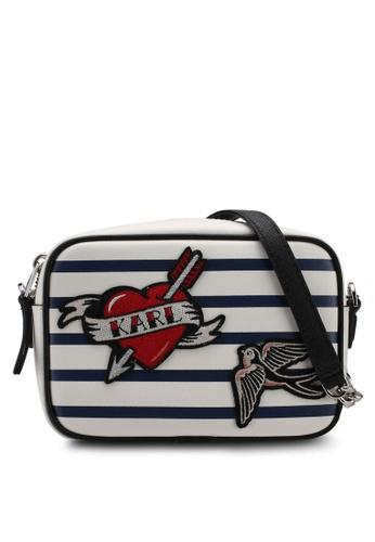 Captain Karl crossbody bag - White Karl Lagerfeld nPDQ0Kv