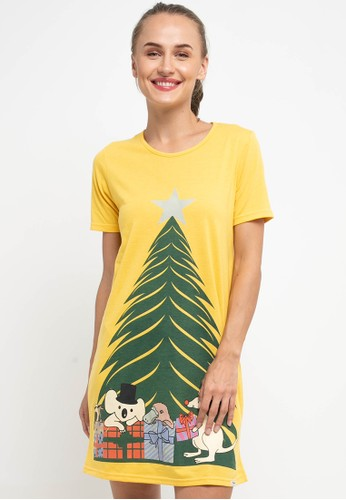 Puppy yellow Dress Daster Sleepwear 34F45AAB99B6B0GS_1