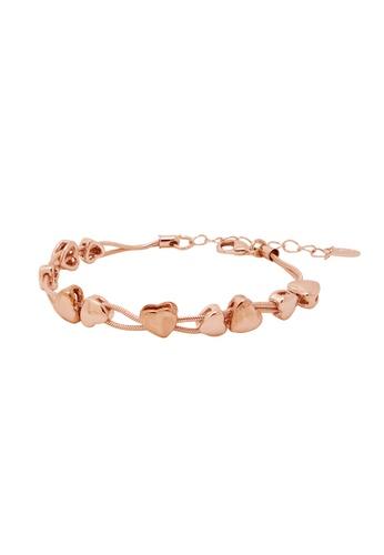 Jaysa Collection gold Rose Gold Heart Strings Bracelet JA875AC0FNVTSG_1