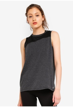 281c0178658 Cotton On Body grey and multi Asymmetric Mesh Tank Top 471A1AA37BC0EAGS_1