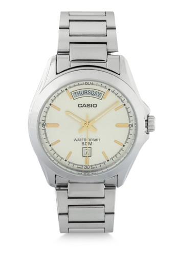 Casio silver Casio Jam Tangan Pria - Silver Ivory - Stainless Steel - MTP-1370D-9AVDF B1D2AAC6F1B122GS_1