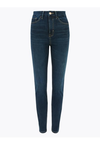 MARKS & SPENCER blue M&S Magic Shaping High Waisted Skinny Jeans 51AFAAA05F05DFGS_1