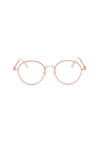 Kyfer's Eyewear & Essentials pink and gold Vintage Light Tones Glasses (Pink) KY376AC56ZTNSG_1