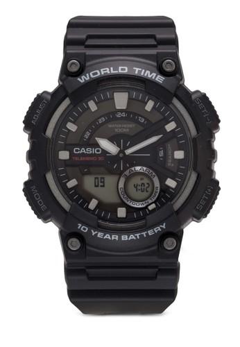 AEQ-110W-2AVDF 防水運動電子錶, 錶類, 其它esprit 寢具錶帶