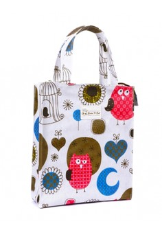 Lunch Bag with Zipper - Colorful Owl