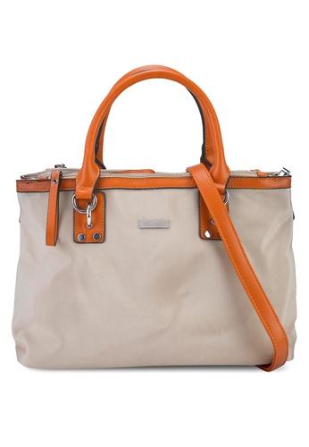 NUVEAU brown Premium Oxford Nylon Convertible Satchel Bag 23C26ACE54E0D5GS_1