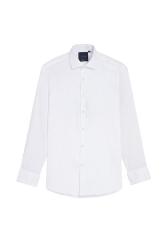 Benjamin Barker white Fumiya Easy Iron Textured White 59DACAABA78711GS_1