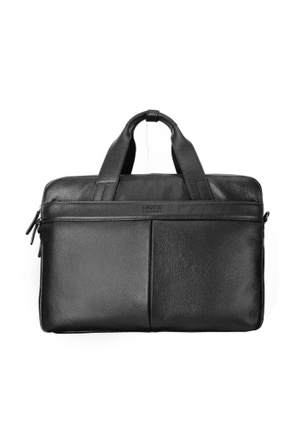 Picard black Picard Mobile Men's Leather Briefcase 1E965AC7A5879BGS_1