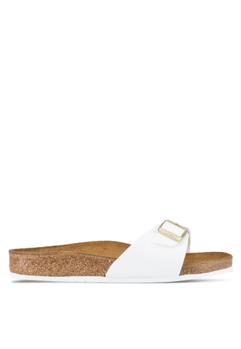 Birkenstock white Madrid Patent Sandals BI090SH69JQKMY_1