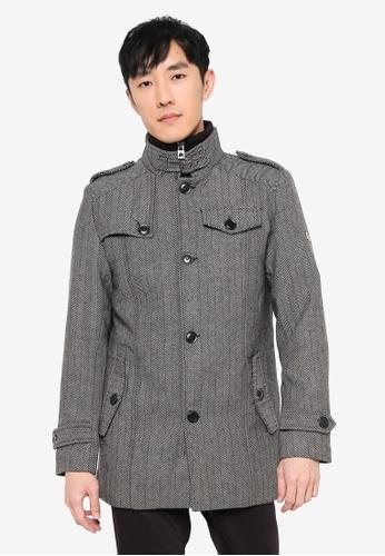 Indicode Jeans grey Alvarez High Collar Coat BDDBEAA9B9B26DGS_1