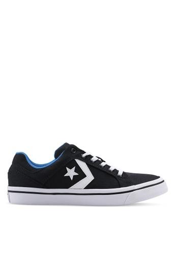Converse black El Distrito You Got Next Ox Sneakers 84E7FSHBC3F454GS_1