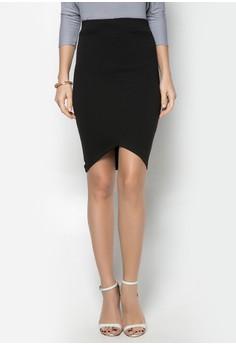 Darci V-Front Midi Skirt