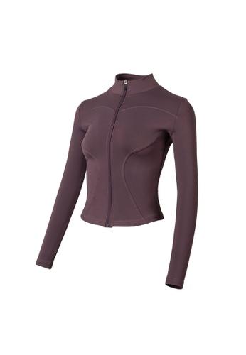 VIVIESTA SPORT purple Flattering Everyday Turtleneck Sports Jacket 20008AAFA3272CGS_1