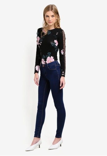 ee88e92ca3 Buy Dorothy Perkins Regular Length Indigo Frankie Jeans Online on ZALORA  Singapore