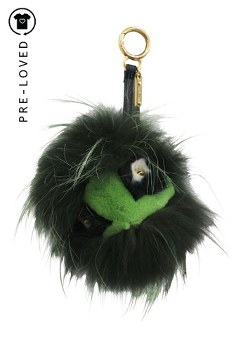 Fendi green Pre-Loved fendi Green Bag Bug Fur Monster Charm 657E4AC37EBB55GS_1