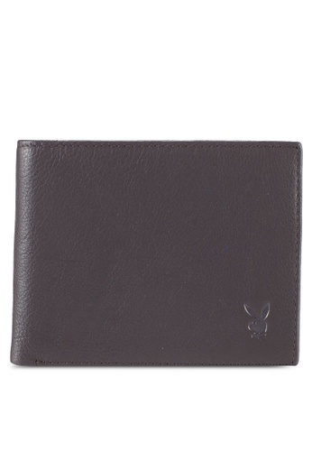 Playboy brown Playboy Genuine Leather Wallet E037EAC65AE95EGS_1