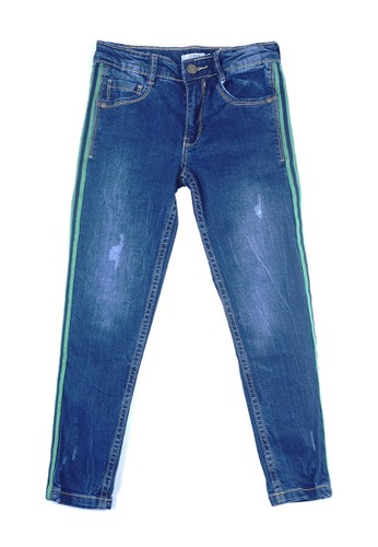 KIDS ICON blue KIDS ICON - Celana Jeans Anak Perempuan CURLY Twill Tape - LYC01000190 17974KA475D56BGS_1