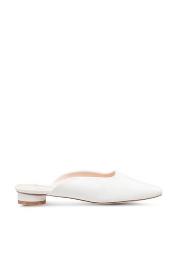 Kimmijim white Sherie Square Toe Mules Block Heels ED4C8SH2C54BF2GS_1