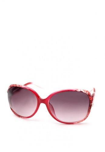 Peculiar and Odd red Peculiar Oversized 9501 Full Rim Gradient Sunglasses FF18DGLE439B8CGS_1