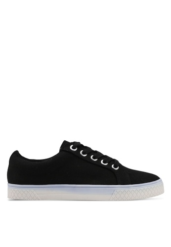 TOPSHOP black City Lace Up Trainers AE86CSHF7B0507GS_1